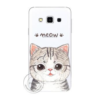 Etui plecki do Samsung Galaxy S3 S4 S5 Mini S6 S7 Edge Note 2 3 4 5 A3 A5 A7 A8 J1 J5 J7 słodkie kotki