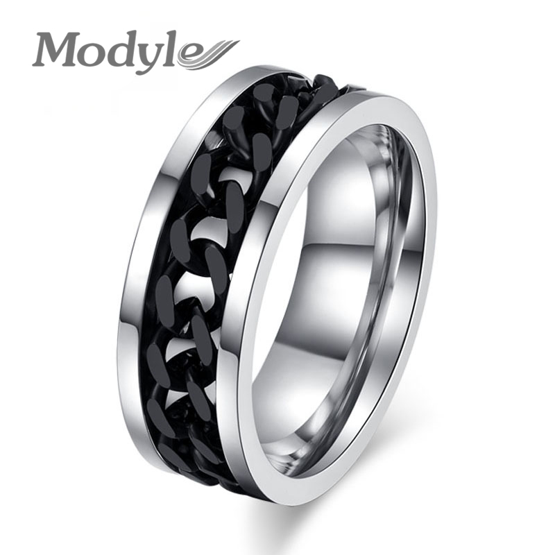 2016 New Fashion Men's Ring Accessories Jewelry Stainless Steel two Colors Finger Rings for Men(China (Mainland))