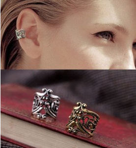 Retro Ear Stud Cuff Earring Wrap Clip On Clip, ear clip(China (Mainland))