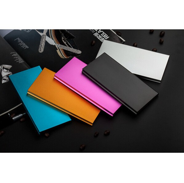 9mm Ultrathin Portable Aluminum 8000 mah Power bank 6000mah Li-Polymer External Battery Pack For iphone Samsung phones charger