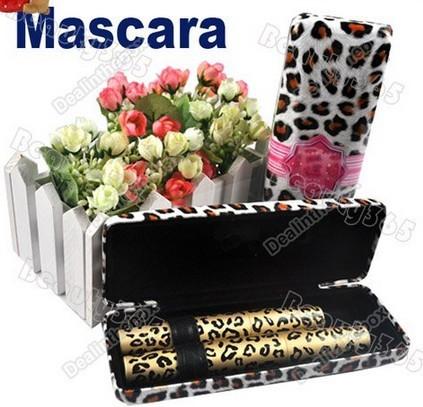 New Double Waterproof Mascara Fiber Leopard Black Long Makeup Eyelash Grower Package 1SET = 2PCS Retail+Free shippin