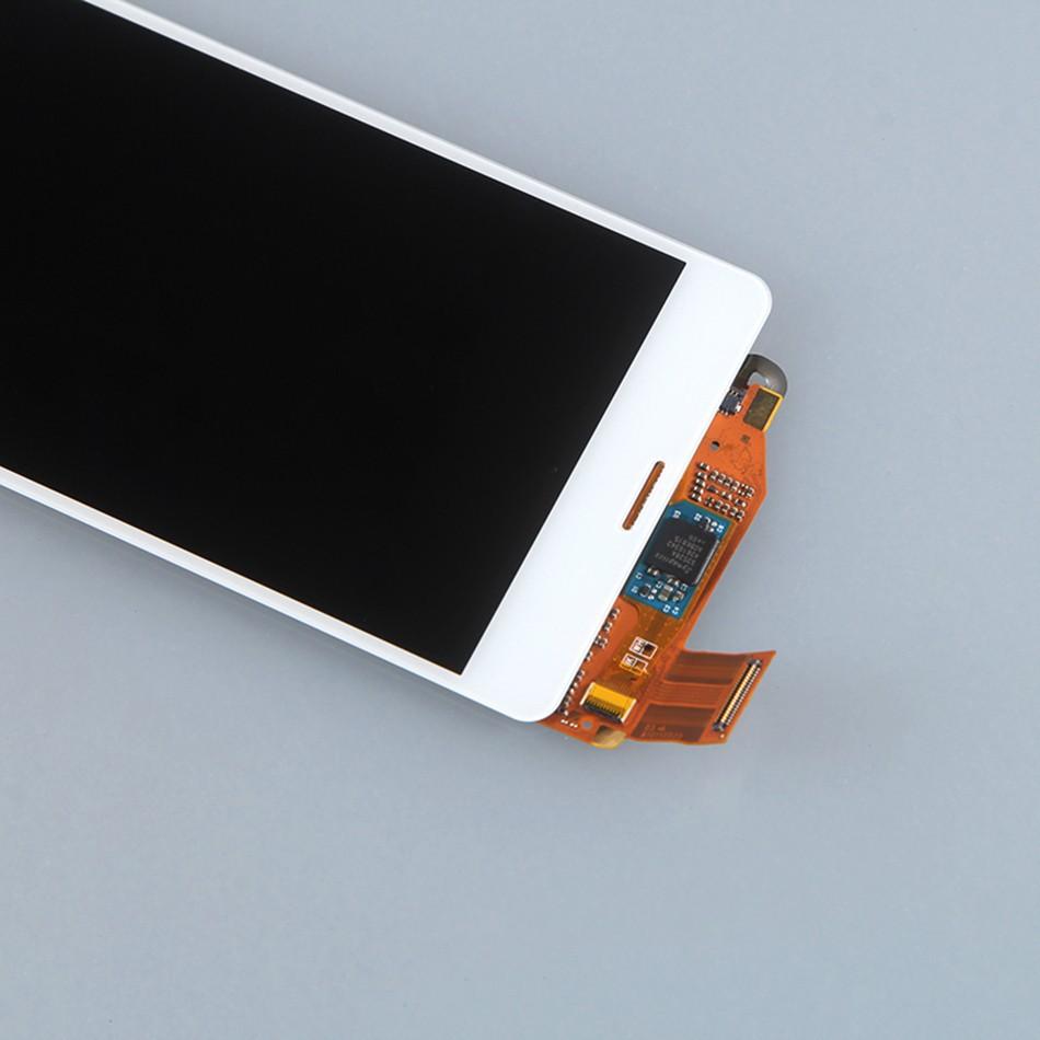 100% оригинал для sony xperia z3 мини lcd экран с сенсорным экран дигитайзер Ассамблеи белый