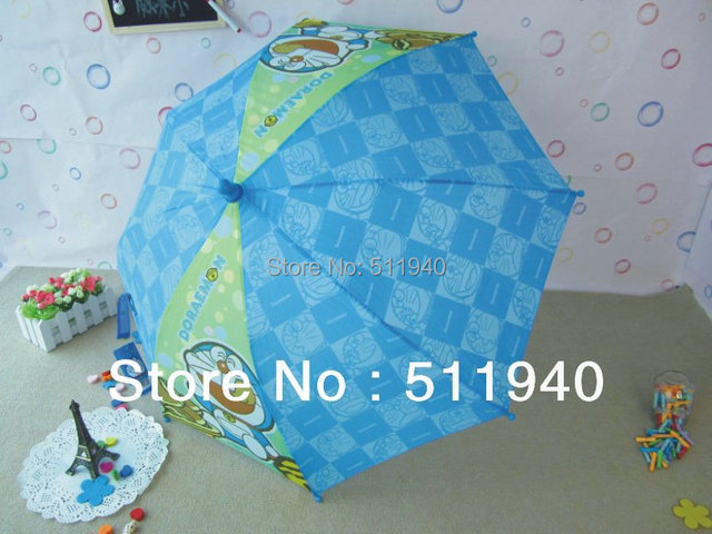 2 pieces blue and green color Doraemon cartoon kids umbrellas boys umbrellas