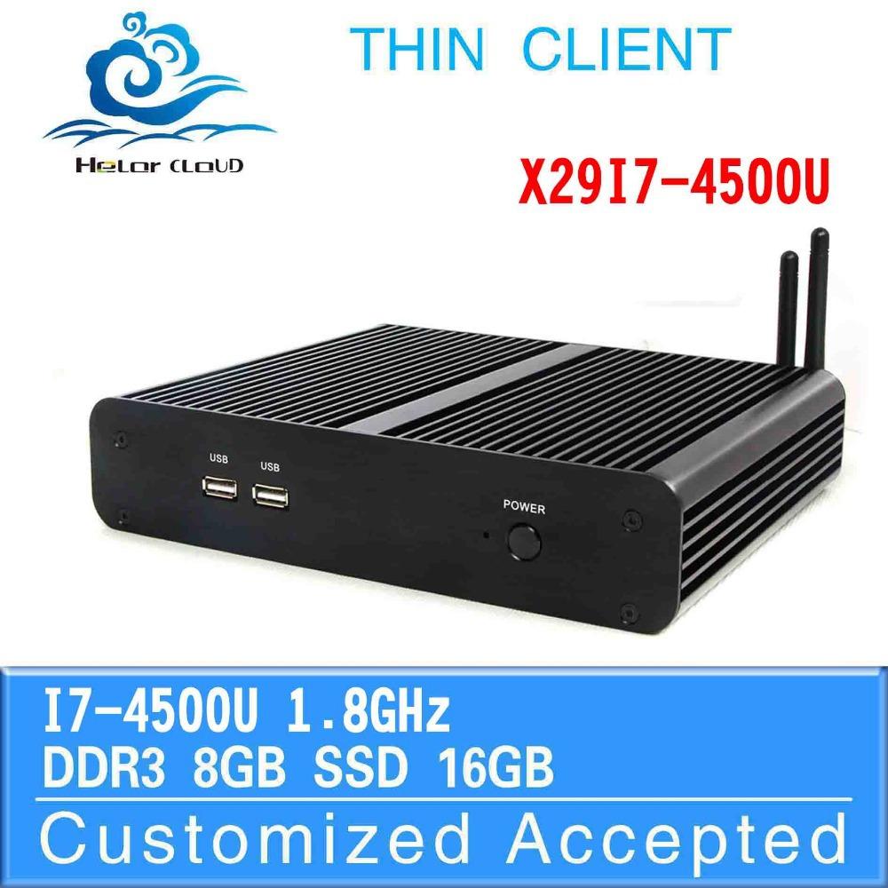 The Cheapest Desktop Computer intel i7 4500u 8gb Ram Latest Mini Computer Cheap Industrial Computer Ultra Thin Client Terminal(China (Mainland))