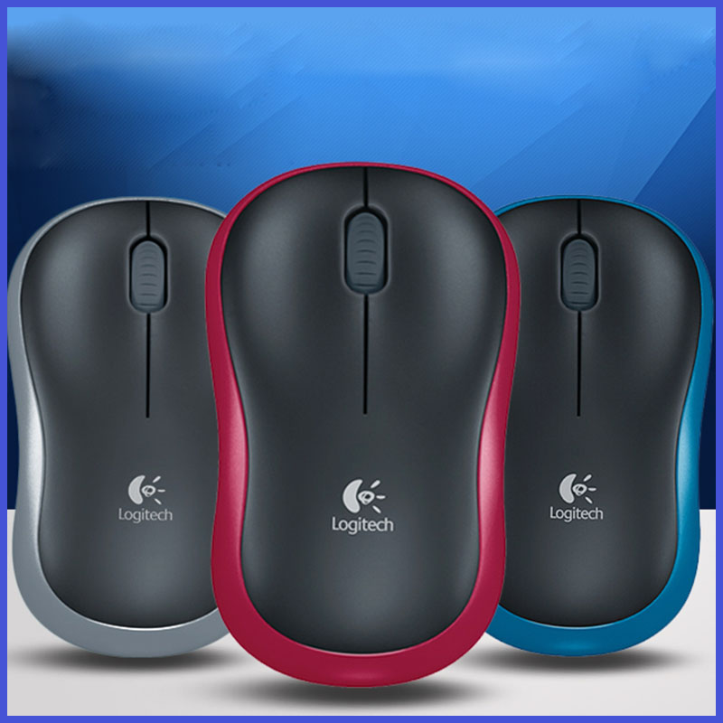 New High Quality Logitech Wireless Mouse M185 Logitech USB mouse notebook office desktop(China (Mainland))