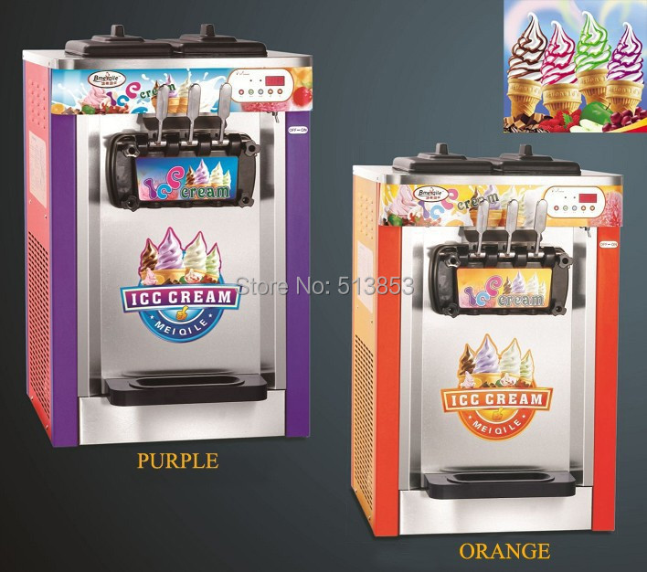 Free Shipping by sea, Ice Cream Maker/ snack food machine / Ice Cream  Machine 22~25 liters/H for amusement park<br><br>Aliexpress