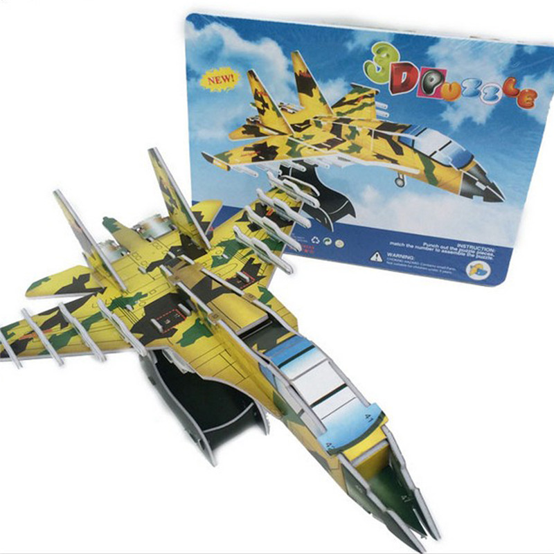 Starz DIY 3D Paper Armaments Fighter Vehicles Tank Helicopters Puzzles Toys Model Craft Building Kits Gifts for Kids(China (Mainland))