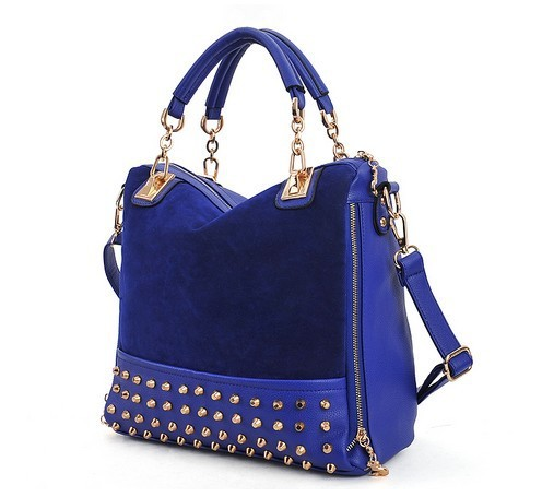 Hot Sale! Bags 2012 personality rivet patchwork shoulder bags handbag women's handbag women's bag free shipping