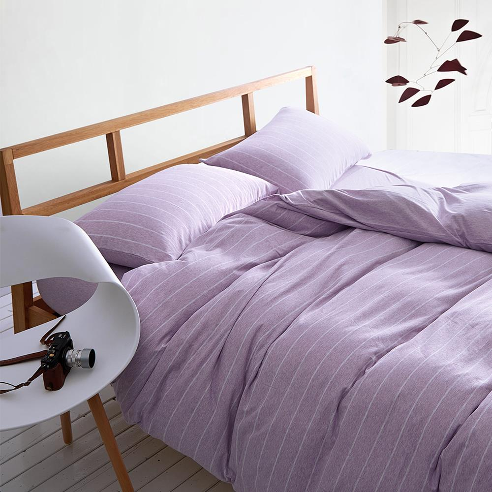 Cotton knitted cotton stripe Japan contracted and pure color korean bedding set hotel bedding set(China (Mainland))