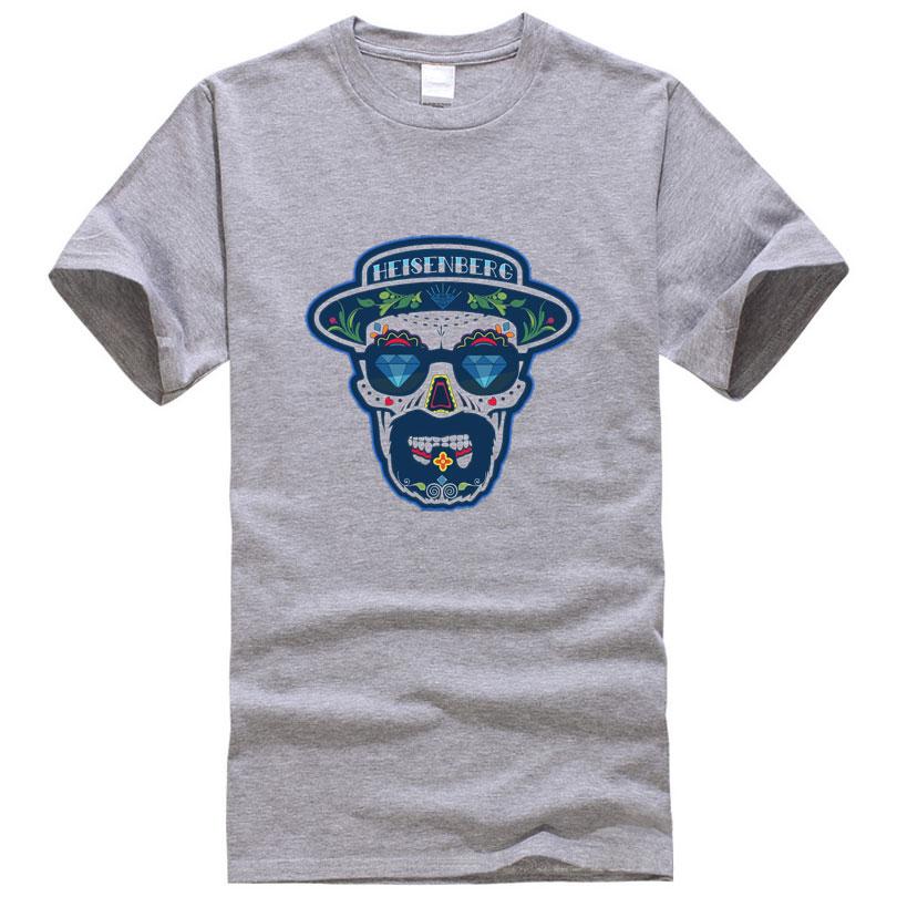 Heisenberg Breaking Bad T-shirts Men Fashion Streetwear Skateboard Fitness Clothing Hip hop Gym Sport Cotton Lovers T Shirt(China (Mainland))