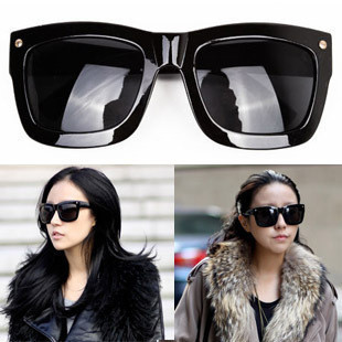 free shipping Anna mali black elegant both sides of the rivet sunglasses $15 off per $150 order