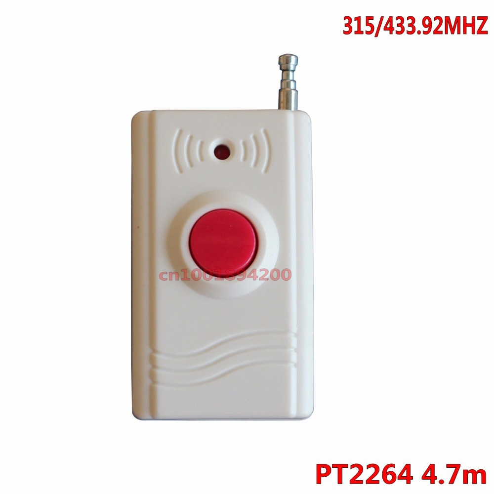 1CH Remote Control Big 1 Button Key RF Transmitter Wireless emergency button 315/433.92 call Button Panic Button 20-300m SOS(China (Mainland))