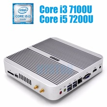 Intel Core i5 7200U minipc i3 7100U HYSTOU Kaby Lake Fanless Mini PC Windows Intel HD Graphics 620 Mini Computer Barebone i5
