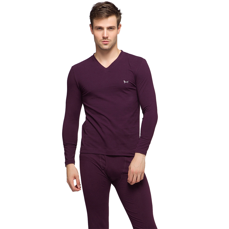 China Top Brand Miiow Men's Thermal Underwear Over 95% Cotton Suit Thermal Clothing Autumn WinterLong Johns Roupa Termica(China (Mainland))