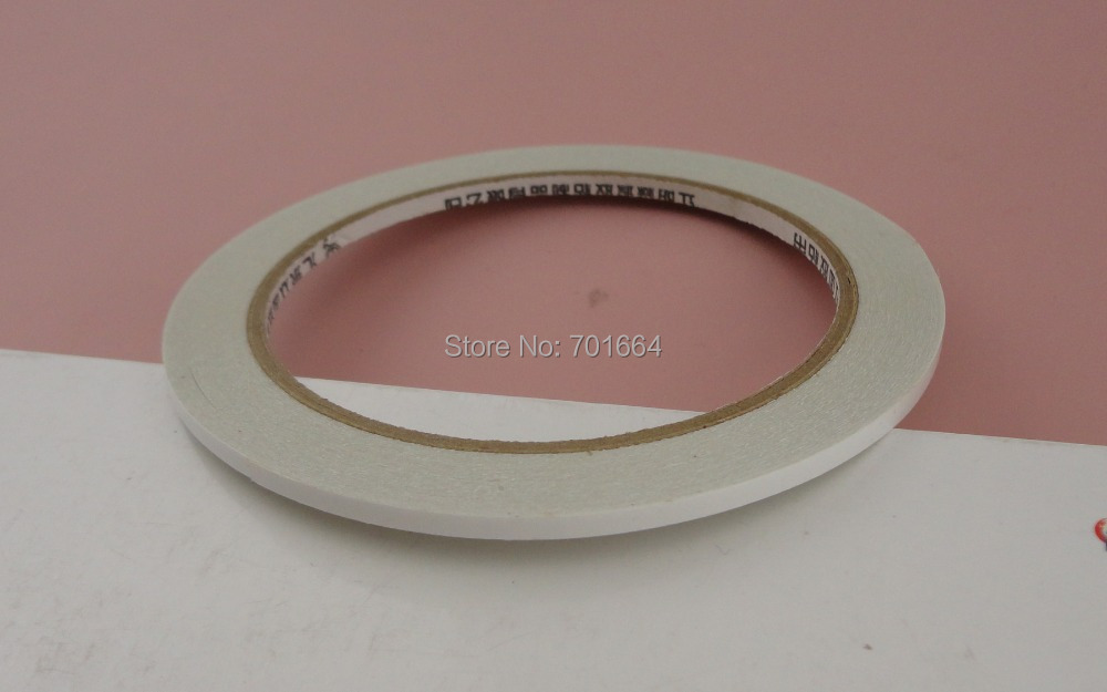 10rolls 3mm width Oily Double Sided adhesive filet tape for DIY hair accessories,Handmade jewelry ornamet material(China (Mainland))