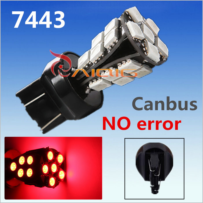 7443 7440 Red 21 SMD CANBUS OBC Error Free rear brake Lights w21/5w LED car Bulbs Lamp Car Light Source parking 12V - Guang Zhou Ming Zhi Technology co., LTD store