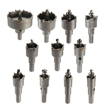 2015 15-100mm Carbide Tip Tipped Drill Bit Set Metal Wood Alloy Cutter Hole Saw Tool