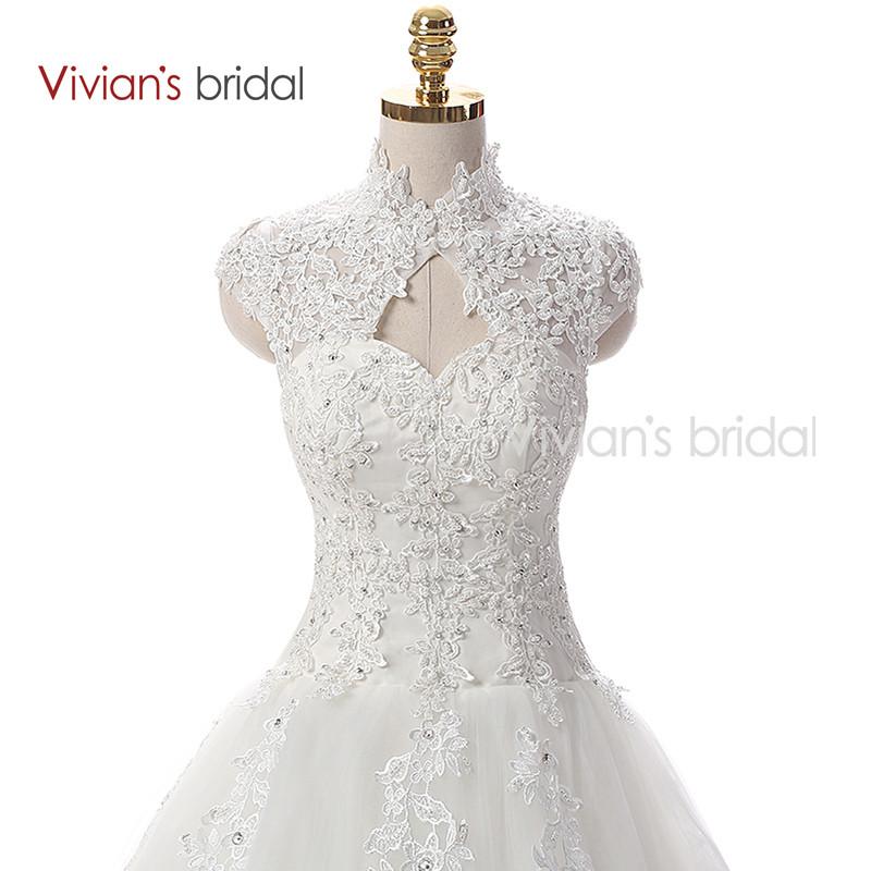 Vivian\'s Bridal A Line Lace Tulle Wedding Dresses 2 (1)