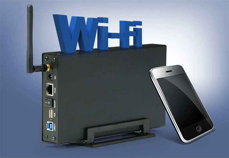case hd 3.5 2.5 inch usb 3.0 to for sata hdd ssd up to 6TB With Wireless Wifi Router external hdd case(China (Mainland))