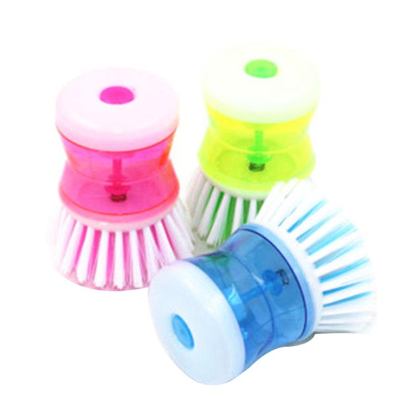 Kitchen Dish Washing Cleaning Up Brush Easy Scrubbing Liquid Detergent Brushes DJ0233(China (Mainland))