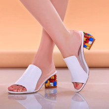 Big Size Sexy Open toe Wedge Slides 2015 Brand High Heels Sandals Platform Flip-flops Summer Shoes for Women Sandals