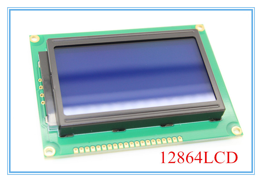 Гаджет  12864 128x64 Dots Graphic Blue Color Backlight LCD Display Module for arduino raspberry pi None Электронные компоненты и материалы
