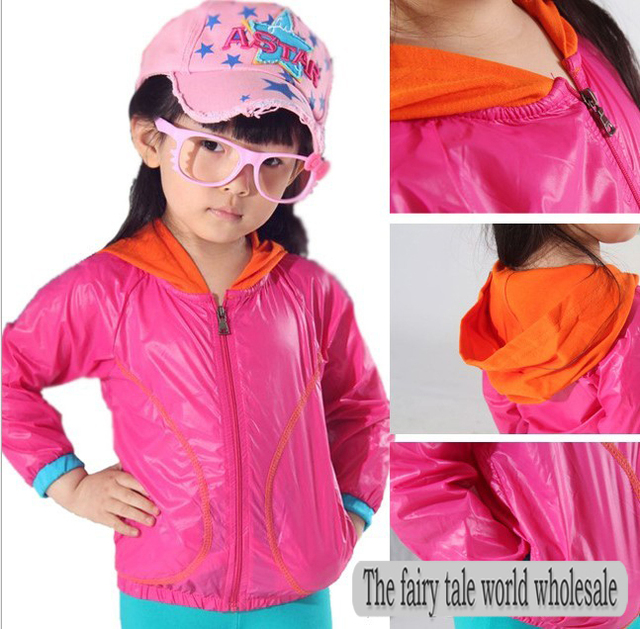 Free shipping!2013 5pics/lot  new children's clothing  ultra-thin sunscreen UV boys and girls jacket coat