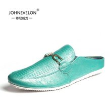 Slippers summer Baotou leather slippers for men half Korean fashion casual shoes breathable summer influx of