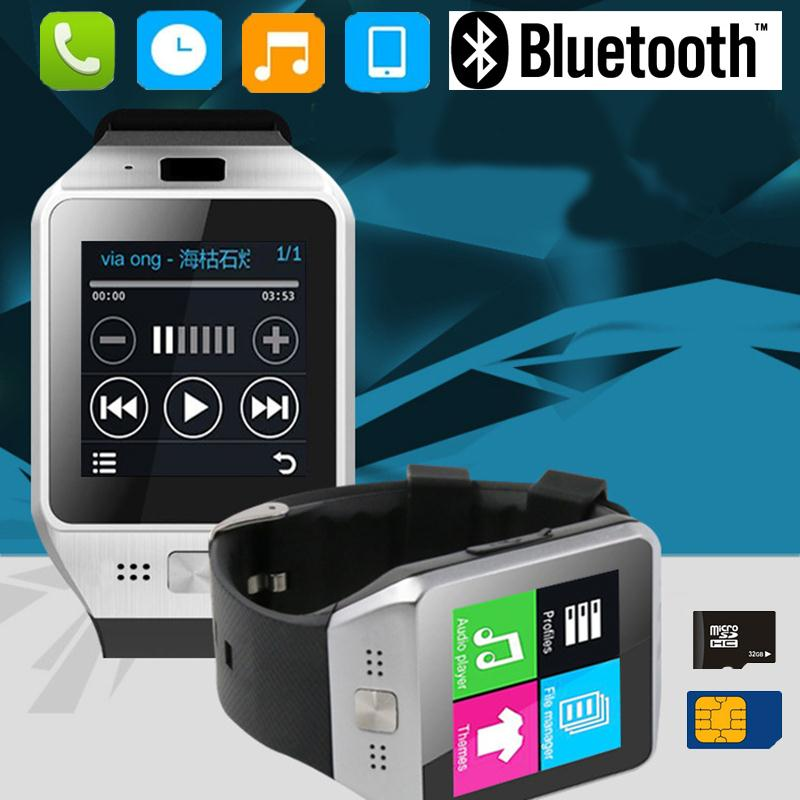 JV08S Bluetooth <font><b>Smart</b></font> <font><b>Watch</b></font> clock Smartwatch Wearable Device For Android IOS Samsung iphone <font><b>Sony</b></font> Phone Smartphone GSM SIM Card