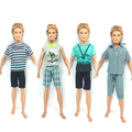 NK One Set Prince Doll Informal Handmade Garments Trend  Sport Garments Outfit Uniform For Barbie Boyfriend Ken Doll