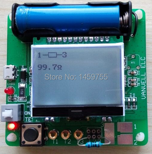 DIY MG328 newest version inductor-capacitor ESR meter multifunction tester - Happy Shopping 20141005 store