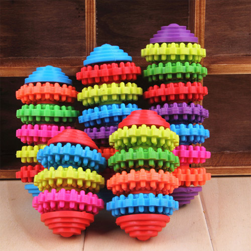 Dog Training Teeth Toy Multicolor Wheel Gear No-hurting the Tooth Non-toxic Bite Resistant Pets Practice Squeaker Playmate Toys(China (Mainland))