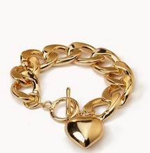 Free Shipping - wholesale bracelet 18k Heart Bracelet Europe website with the bracelet atmospheric fashion(China (Mainland))