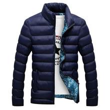 Winter Jacket Men 2015 Men Cotton Blend Coats Zipper Mens Jacket Casual Thick Outwear For Men Asia Size 4XL Clothing Male,EDA104(China (Mainland))