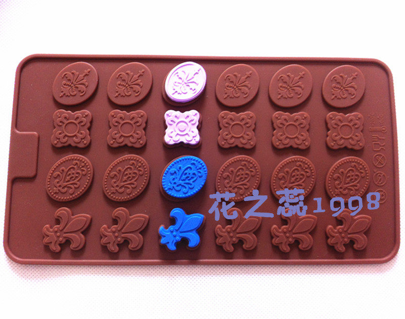Wholesale/retail , High temperature silicone flower type cake mold / chocolate decoration Tools / Fimo clay mold ,free shipping(China (Mainland))