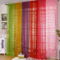 New Tulle Door Window Room Divider Curtain Valance Heart Line Screening Curtain Sheer Curtains Fringe String