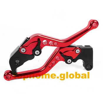 Motorcycle Accessories RED Short Handlebar CNC Clutch Brake Levers For Yamaha YZF R25 2015