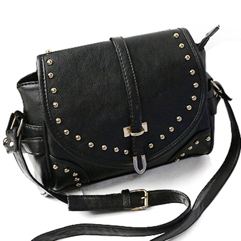 Women bags Restore ancient Studded leather bag PU Leather Handbags Tote Messenger Shoulder Bag,Free shipping M755(China (Mainland))
