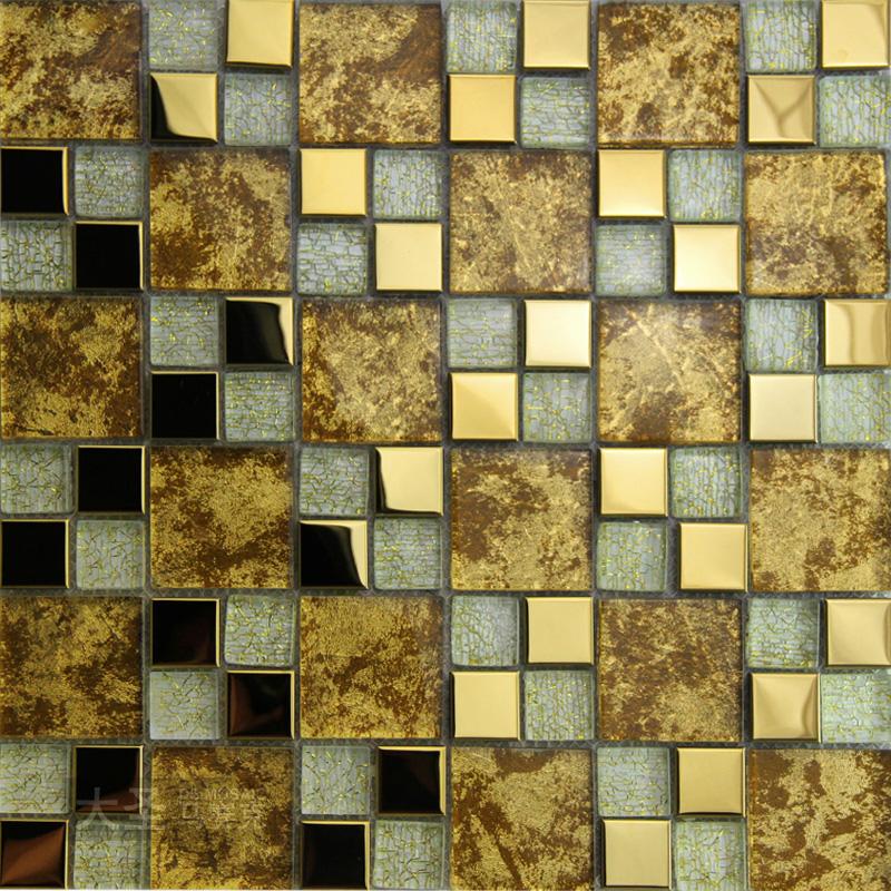 Ingrosso di alta qualit oro specchio piastrelle da grossisti oro specchio piastrelle cinesi - Specchio mosaico vetro ...