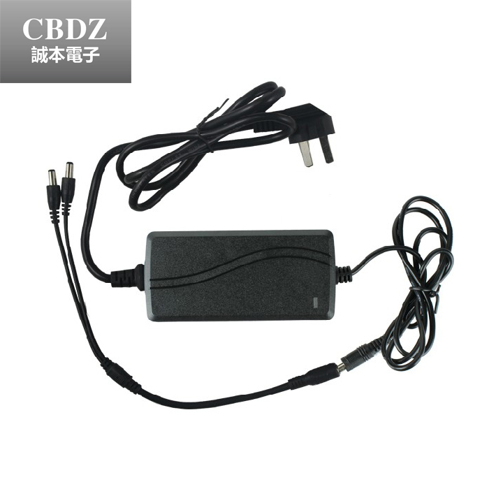 1 split 2 power cable adapter & 12V 4A CCTV power supply(China (Mainland))