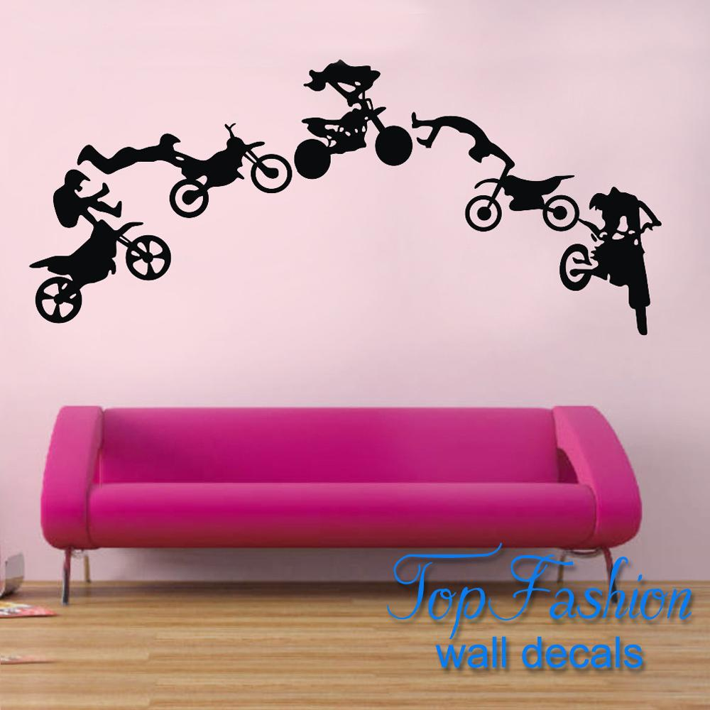 motorcycle stunt wall sticker motorbike poster wall decal