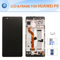 For Huawei P9 LCD display touch screen front glass frame assembly original quality 5 2 inch