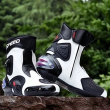 Free shipping new Motorcycle Racing Boots, Motorbike Motocross waterproof boots,white knight  boots SIZE (40 ~ 45)