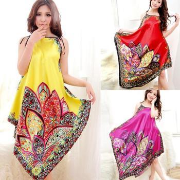Factory Price! Women Sexy Casual Long Dress Chemise Nightgown Sleepwear Bath Nightwear