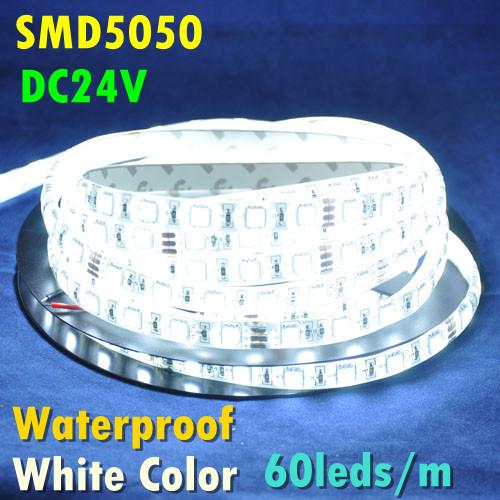 5M 60leds/m 300leds 14.4W/m 72W White/Warm White/RGB Color Epoxy Waterproof IP65 DC24V Flexible LED Strip SMD5050 hotel etc - World Uniqueen International Co.,Ltd store