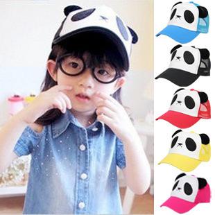 Spring and autumn male women's parent-child hat star child cartoon male female child baseball cap child hat panda(China (Mainland))