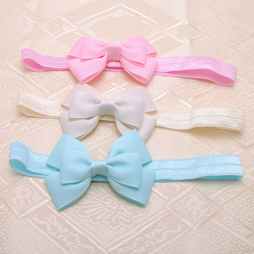"""2 Piece 3"""" inches Cute Kids Baby Girls headbands Toddler Infant Bow Headbands Bows Band hair accessories,acessorios para cabelo(China (Mainland))"""