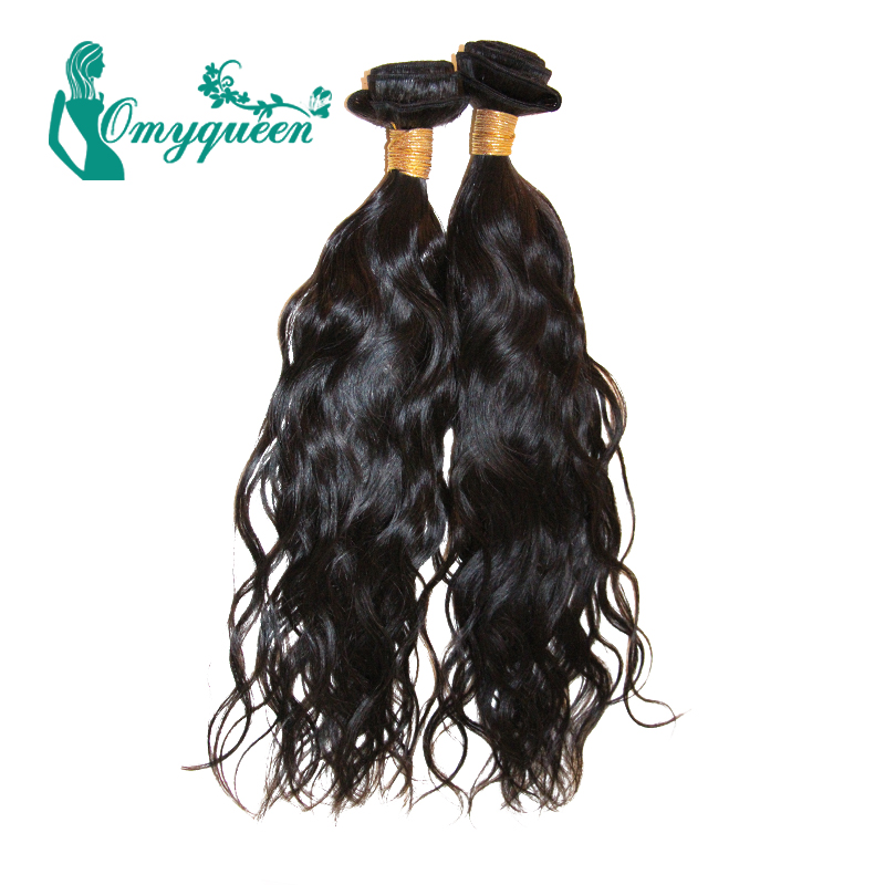Malaysian virgin hair 2pcs Natural Wave unprocessed human hair weaves 8