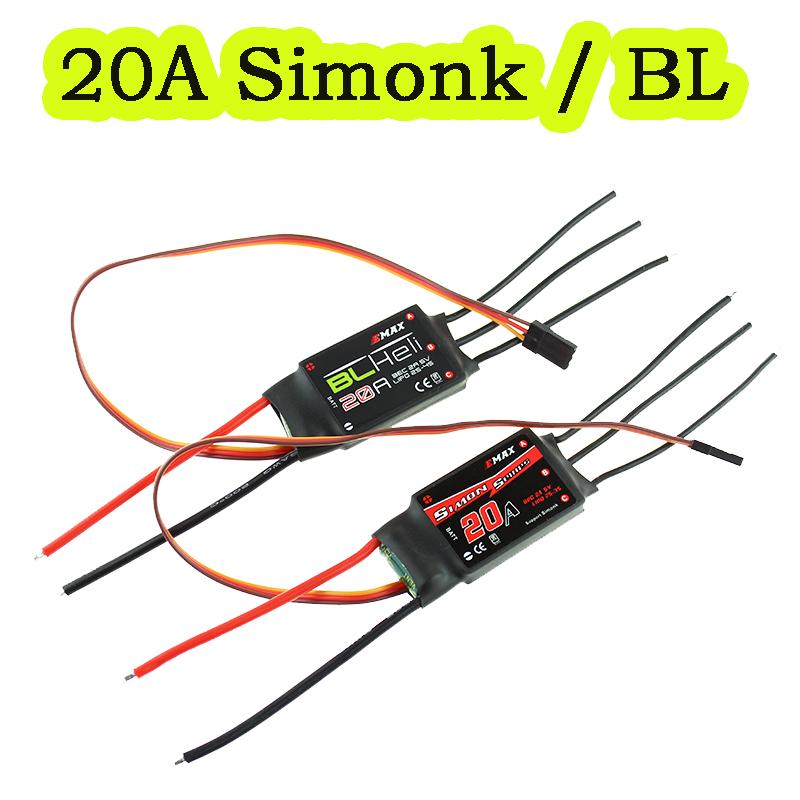 4 PCS BLHeli firmware 20A ESC Speed Controller 2A/5V BEC for RC Multicopter / Quadcopter 2-4s LiPo(China (Mainland))