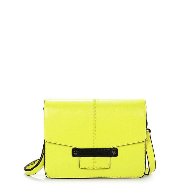 2013 New VANCL Women Messenger Bag Erika Fashionable Across Body Bag PU Fold-over Design Bag Lucifer Yellow FREE SHIPPING